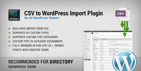 CSV to WordPress Import Plugin - CodeCanyon Item for Sale