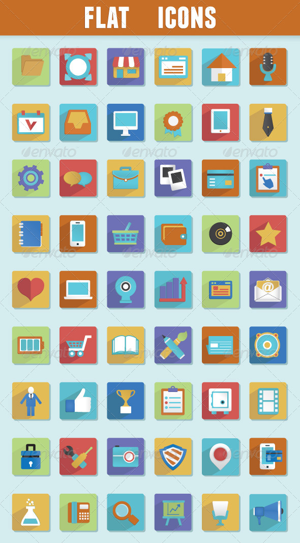 GraphicRiver Flat Icons for Design 4829694