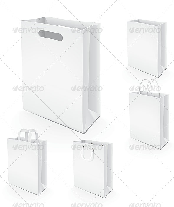 GraphicRiver 5 Paper Bags 4831655