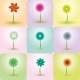 Abstract Flowers Vector Backgrounds - GraphicRiver Item for Sale