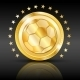 Gold Football Coin Sport Background - GraphicRiver Item for Sale