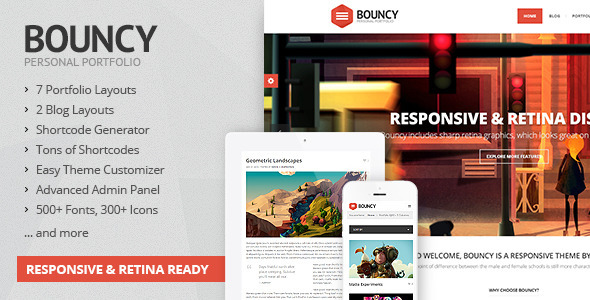 ThemeForest Bouncy Responsive Multi-Purpose Theme 4832702