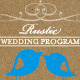 Rustic Wedding Program - GraphicRiver Item for Sale