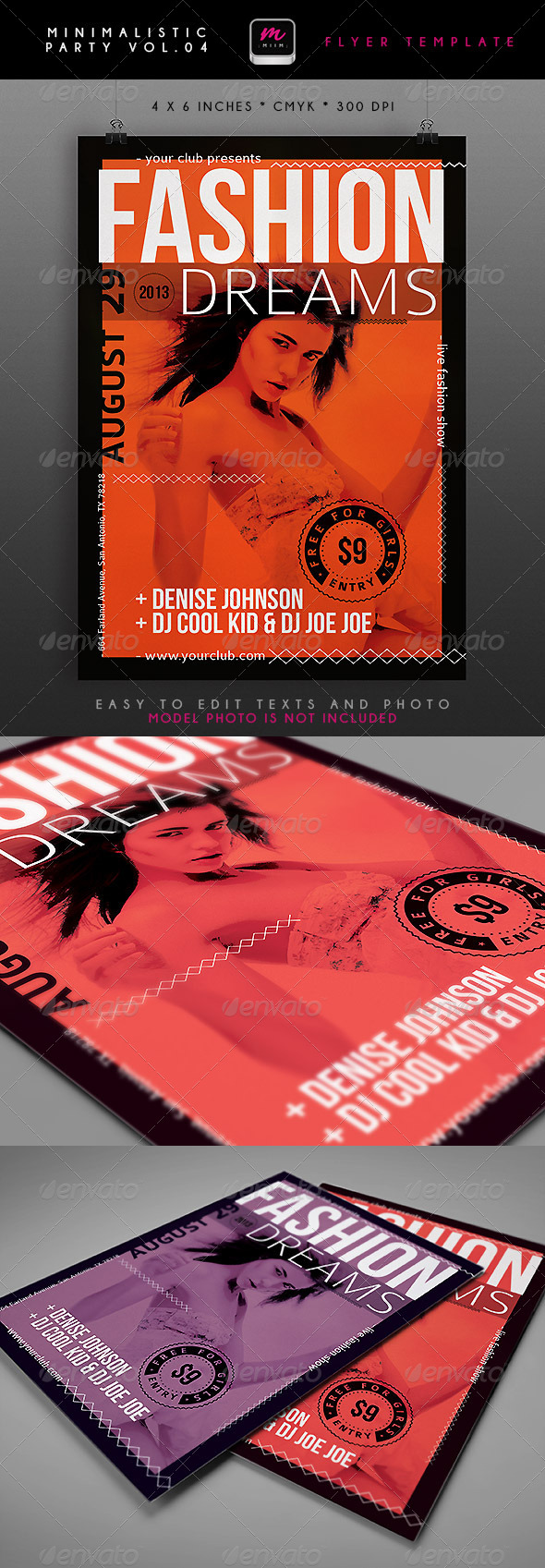 GraphicRiver Minimalistic Party Flyer 4 4833388