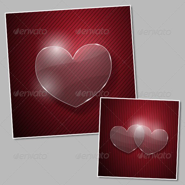 Hearts from Glass - Backgrounds Decorative