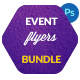 Bundle 3x Minimal Typography Event Flyers, Posters - GraphicRiver Item for Sale