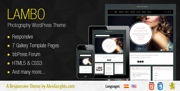ThemeForest Lambo Premium Photography Theme 4802179