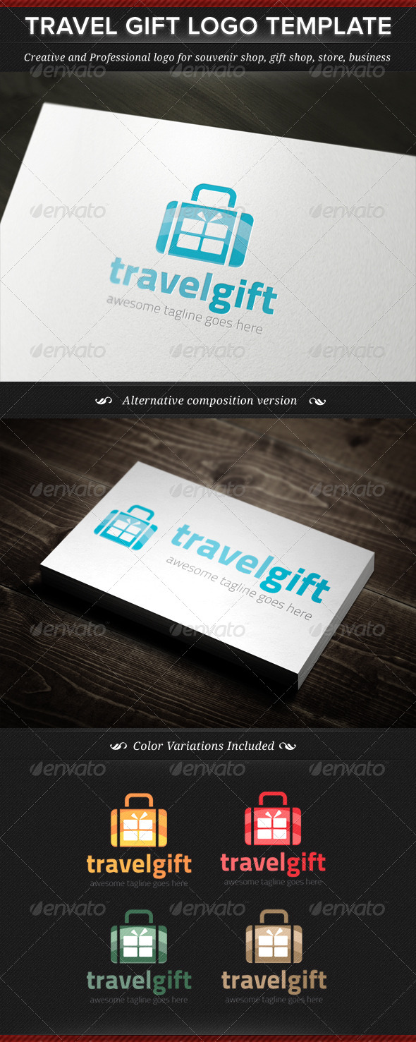GraphicRiver Travel Gift Logo Template 4835094