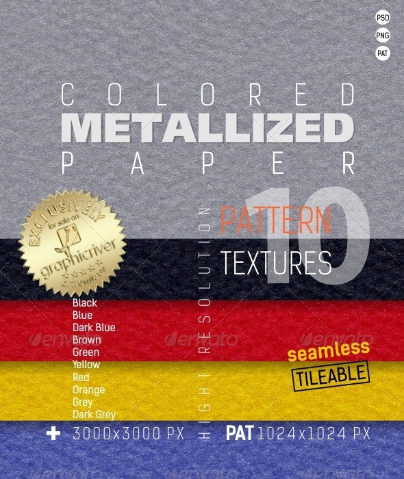 GraphicRiver Metallized Colored Paper Texture 4835885