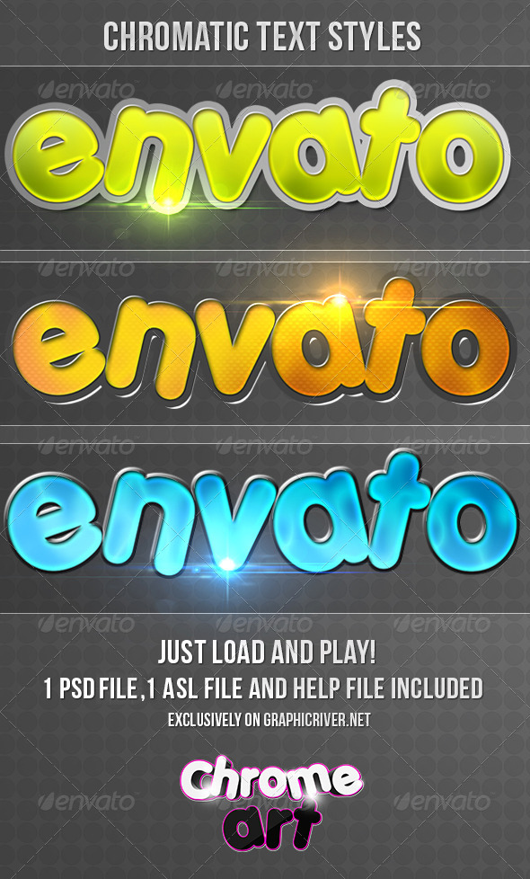GraphicRiver Chromatic Text Styles 4836117