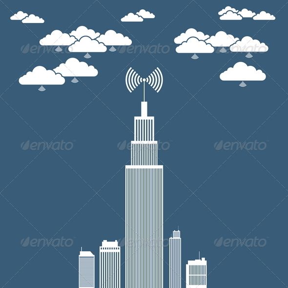 GraphicRiver Corporation Cloud Network 4836421