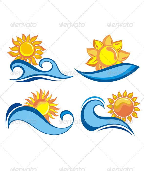 GraphicRiver Summer Symbols 4836441