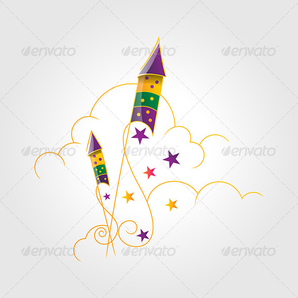 GraphicRiver Rockets in Clouds 4837179