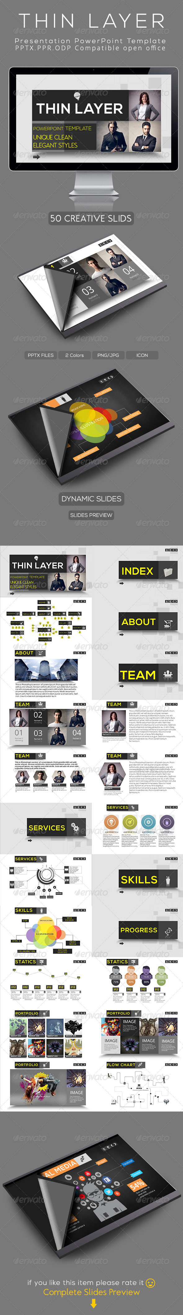 GraphicRiver Thin Layer Powerpoint Presentation Template 4814843