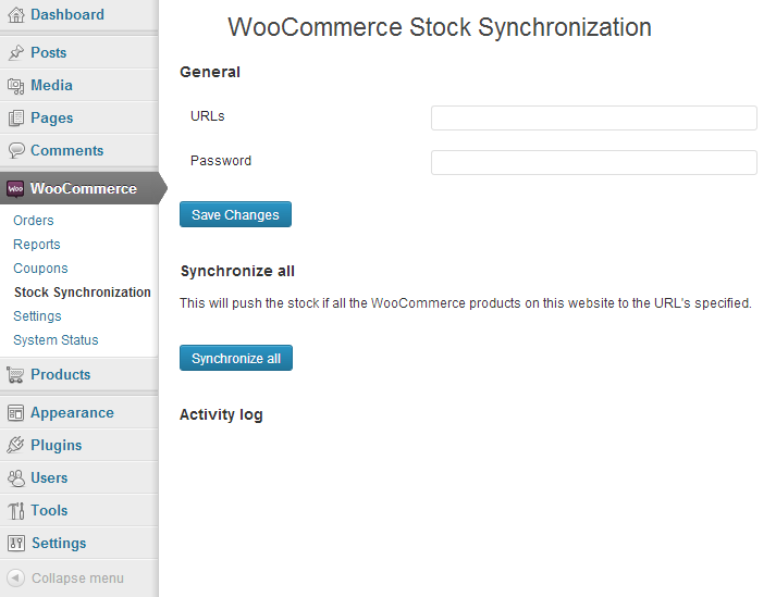 WooCommerce Stock Synchonization
