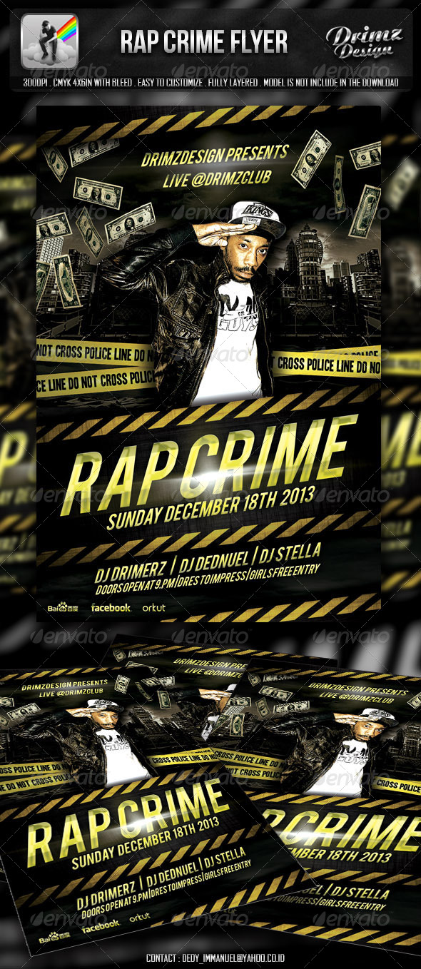 GraphicRiver Rap Crime Flyer 4837382