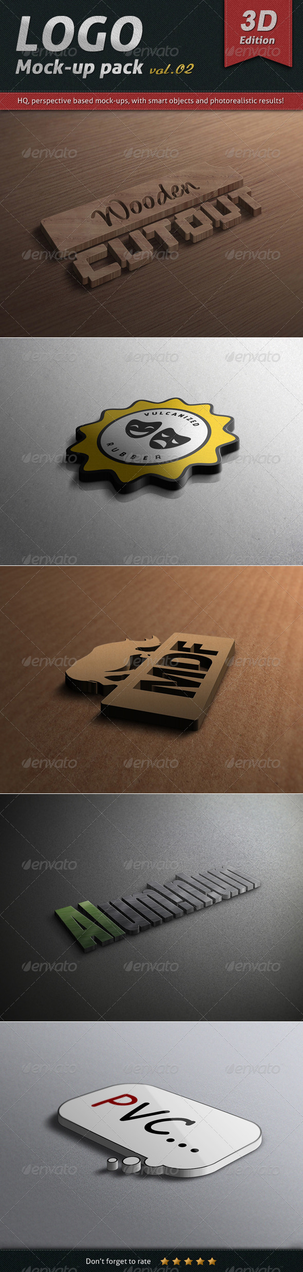 GraphicRiver Logo Mock-up Pack Vol.02 3D Edition 4792617