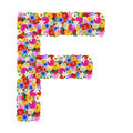 F, letter of the alphabet in different flowers isolated on white background - PhotoDune Item for Sale