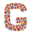 G, letter of the alphabet in different flowers isolated on white background - PhotoDune Item for Sale
