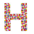 H, letter of the alphabet in different flowers isolated on white background - PhotoDune Item for Sale