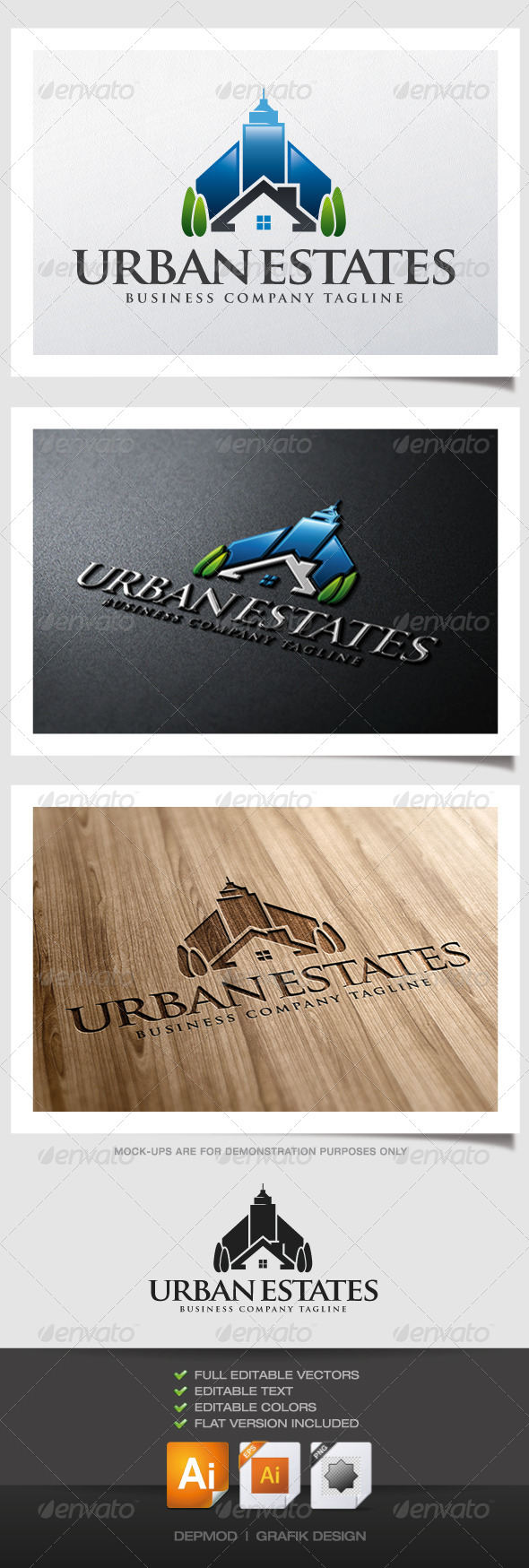 GraphicRiver Urban Estates Logo 4837544