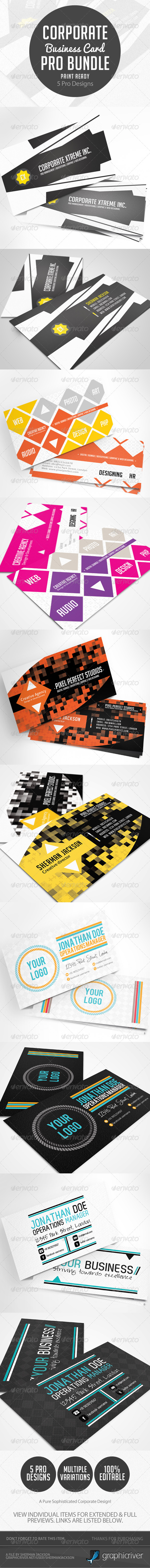 GraphicRiver Corporate & Creative Business Card Pro Bundle 4777298