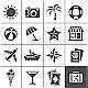 Vacation and Travel Icons - GraphicRiver Item for Sale