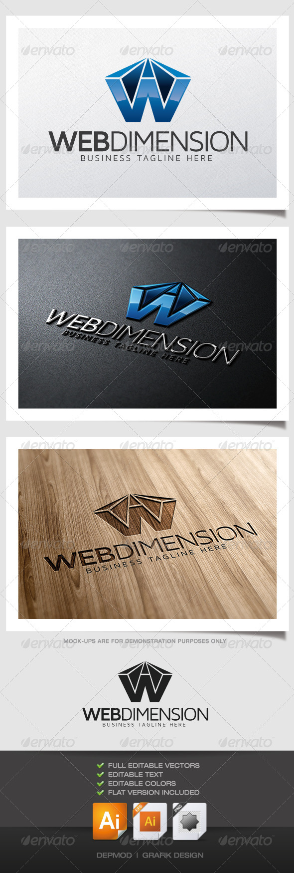 GraphicRiver Web Dimension Logo 4839284