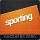 Sporting Business Card - GraphicRiver Item for Sale