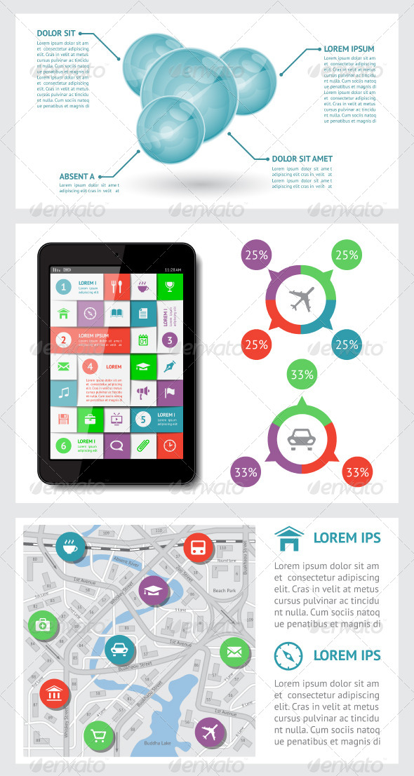 GraphicRiver Infographics and Web Elements 4839839