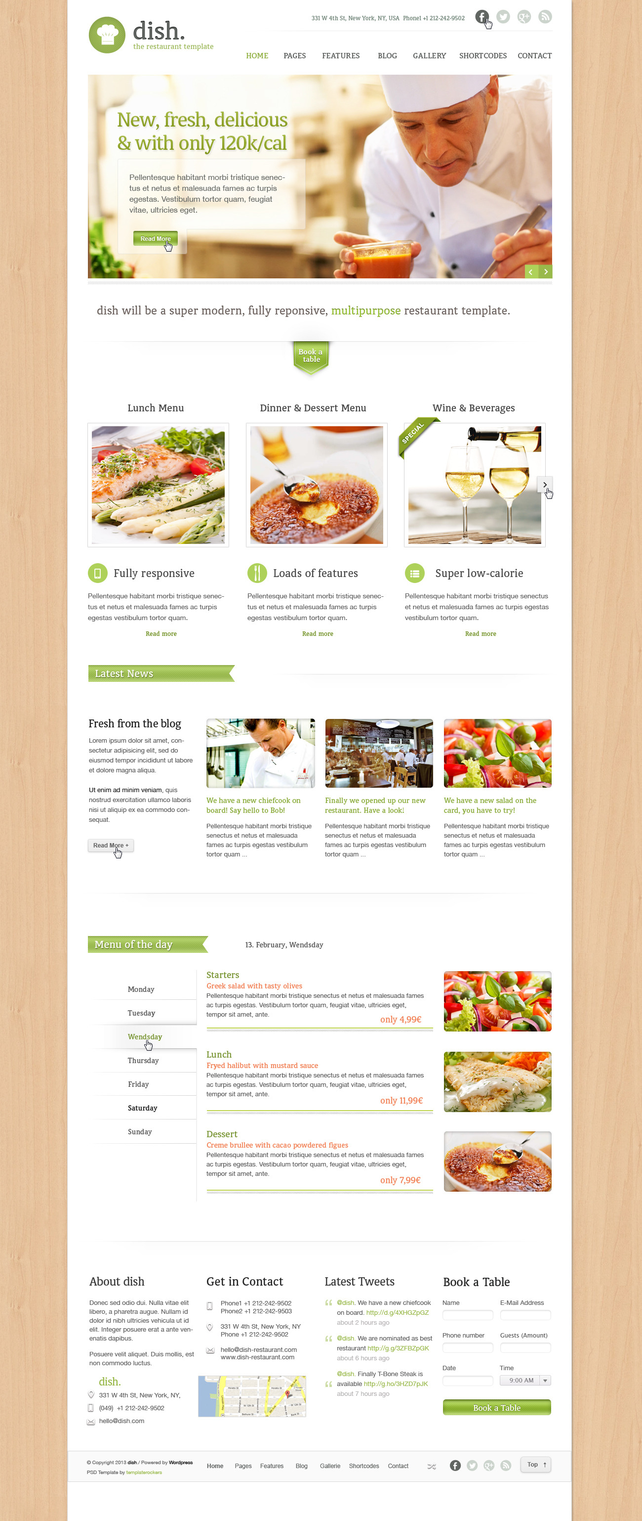 Dish Multipurpose PSD Restaurant Template