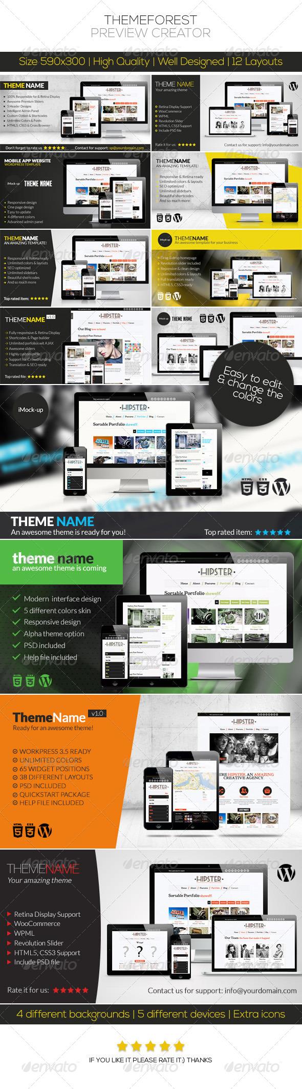 GraphicRiver ThemeForest Preview Creator 4840388