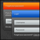 Glossy Admin Panel Login Form - GraphicRiver Item for Sale