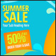 Colourful Summer Twitter Background - GraphicRiver Item for Sale