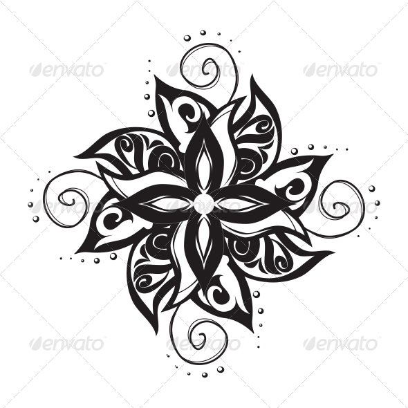 GraphicRiver Black and White Tattoo Pattern 4844930