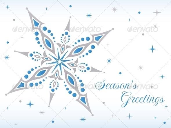 GraphicRiver Vector Christmas Star 4845494