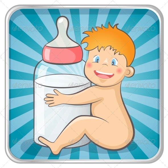 GraphicRiver Baby with a Bottle 4846745