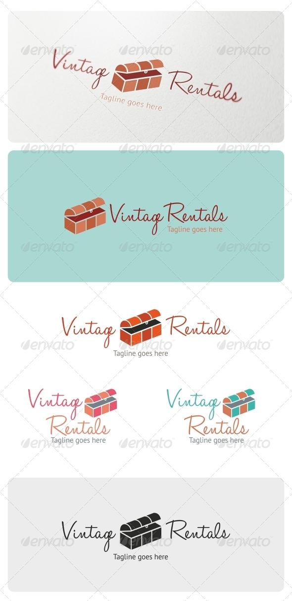 GraphicRiver Vintage Rentals Logo Template 4847582