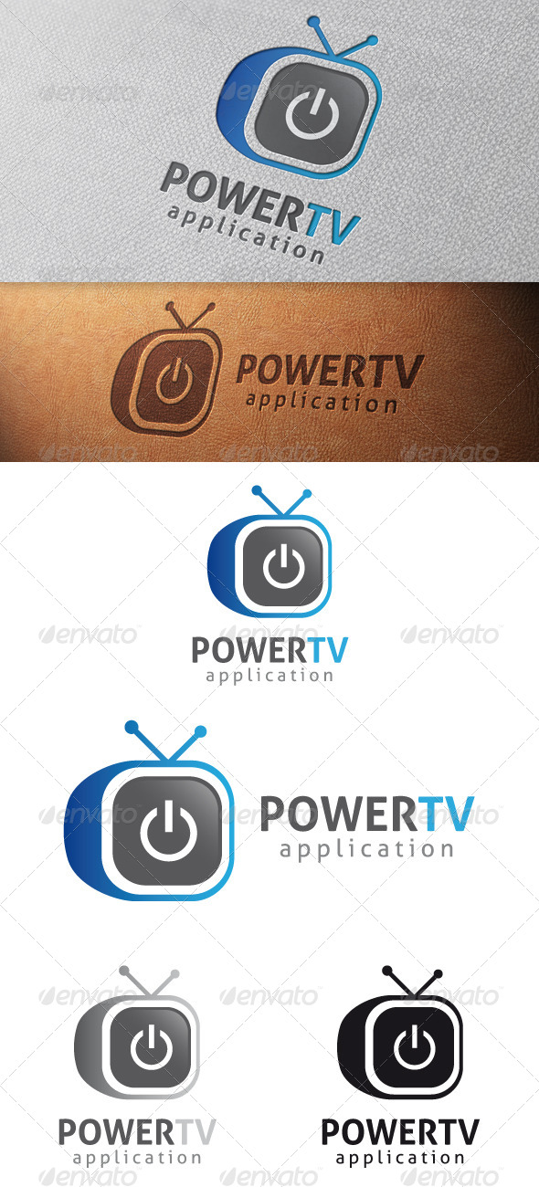 GraphicRiver Power Tv Logo Template 4848091