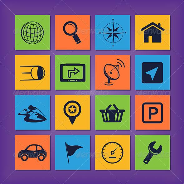 GraphicRiver GPS Navigation Icons 4848127