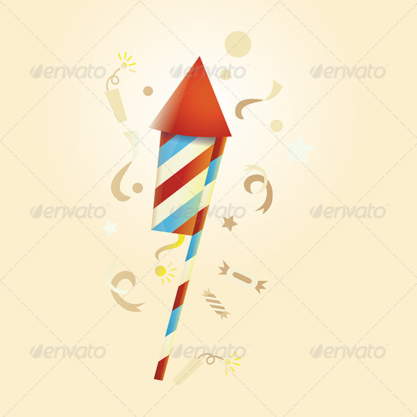 GraphicRiver Firework Rocket 4848152