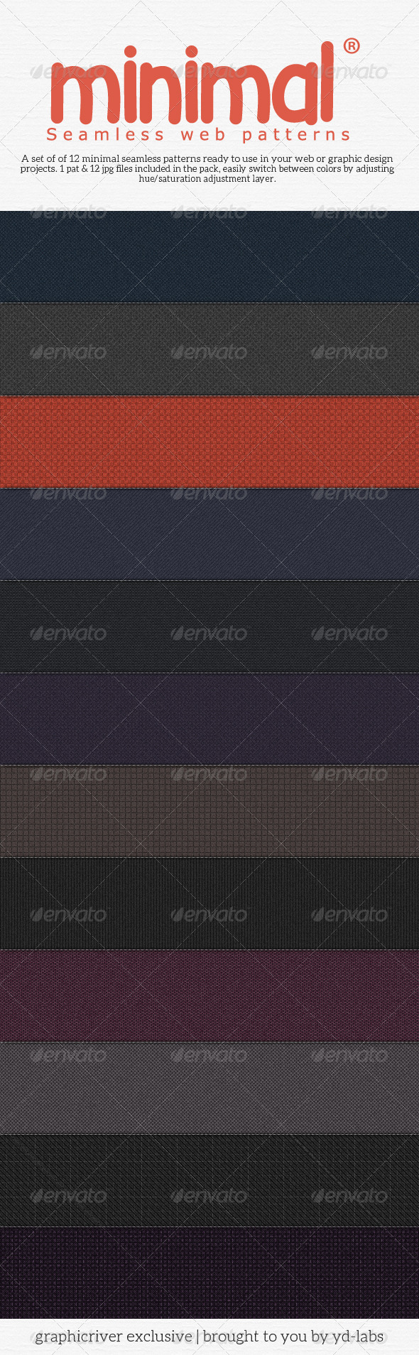 Minimal Seamless Web Patterns Pack 1 - Patterns Backgrounds