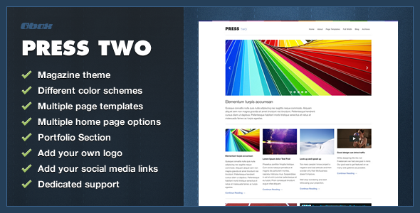 Press Two - WordPress Magazine Theme - Blog / Magazine WordPress