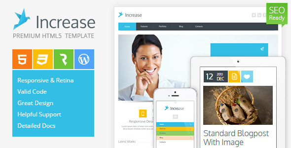 ThemeForest Increase Premium Corporate HTML5 Template 4849716