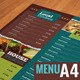 A4 Typographic Menu - GraphicRiver Item for Sale