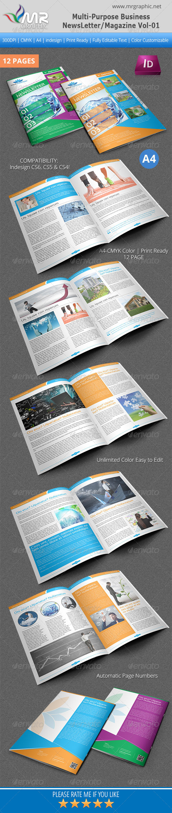 GraphicRiver Multipurpose Business Newsletter Magazine Vol-01 4666987