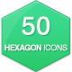 50 Flat Hexagon Icons - GraphicRiver Item for Sale
