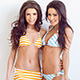 Couple of Beautiful Girls in Bikini Posing - VideoHive Item for Sale