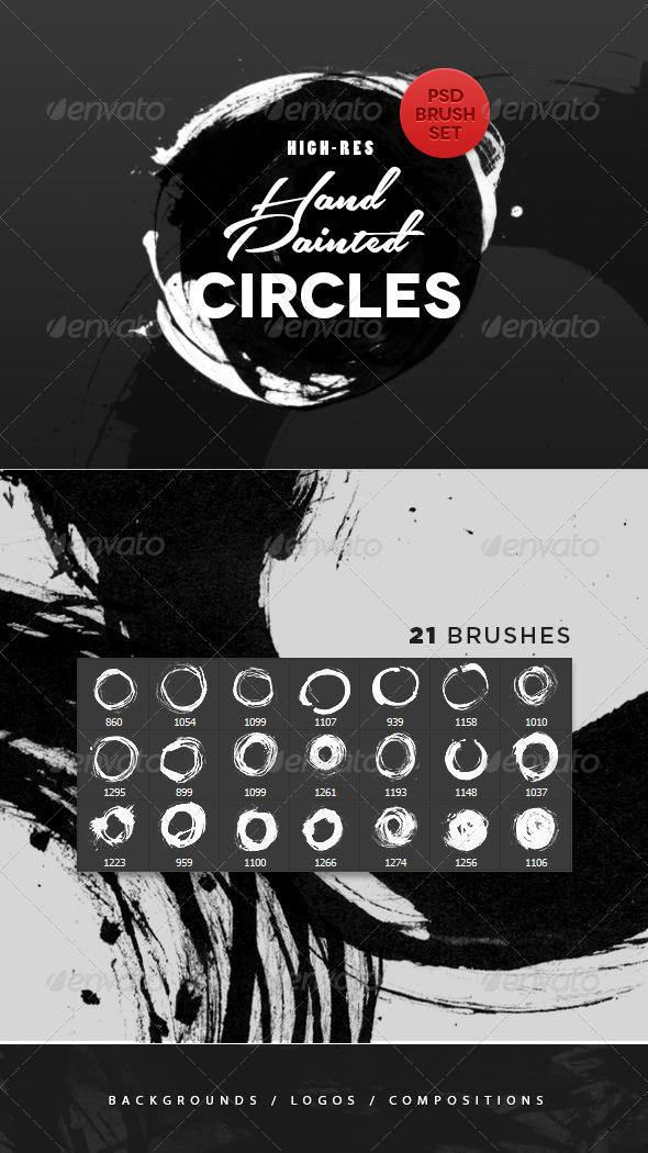 GraphicRiver Hand Painted Circles Photoshop Brushes 4851357