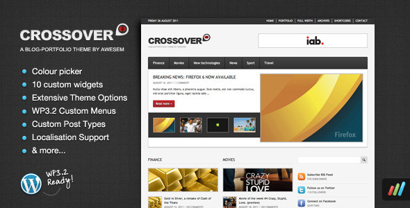 Crossover - Premium Magazine / Portfolio Theme